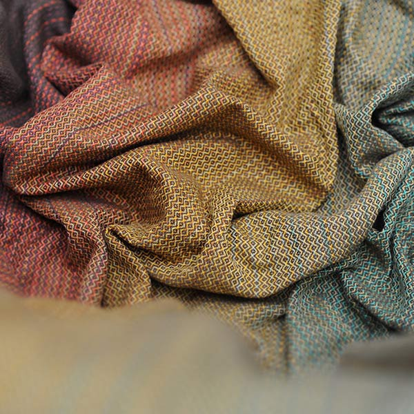Sherwood Girasol Wrap in Honeycomb Weave and Autumn colors