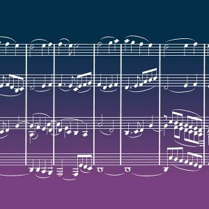 Indigo/Purple Gradation Nati Notes wrap