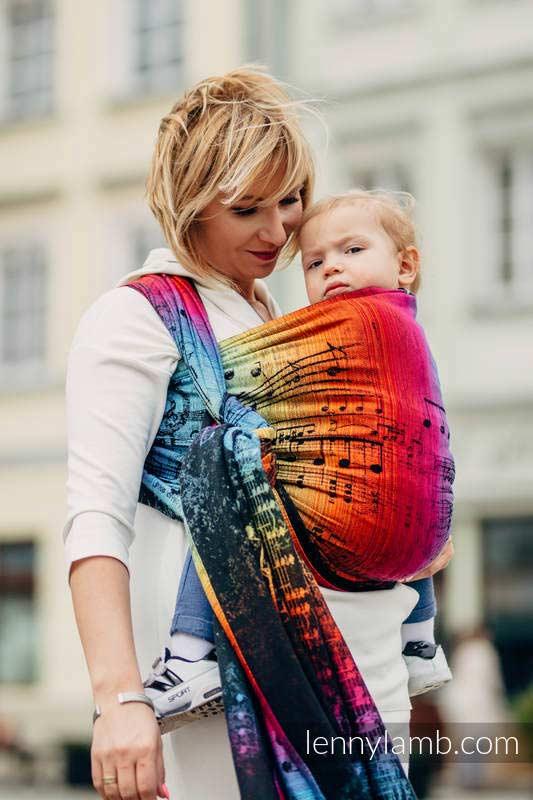 Lenny Lamb Symphony Rainbow Dark Woven Wrap Baby Carrier