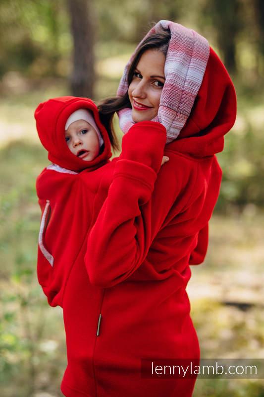 Lenny Lamb Babywearing Sweatshirt Red, back view