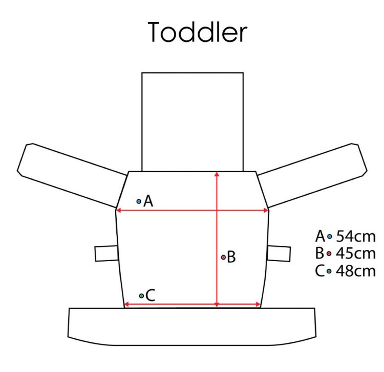 Toddler NatiGo Measurements