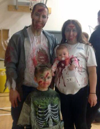Family of Zombies Babywearing Costume