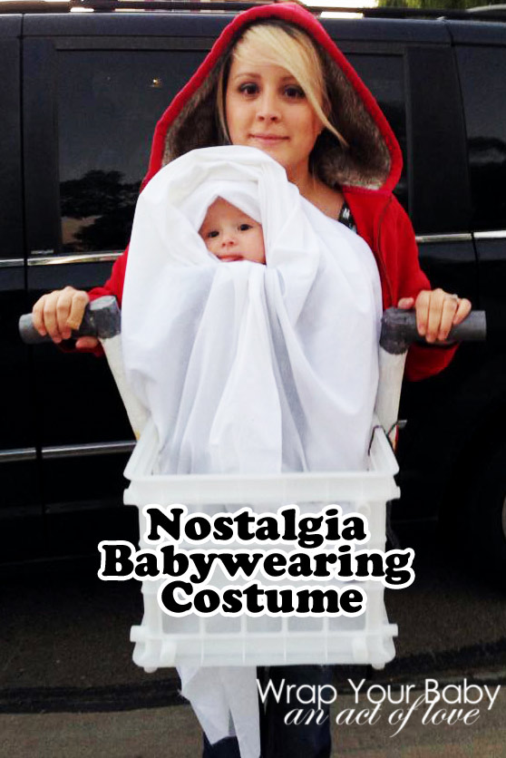Elliott and ET make for a nostalgic babywearing costume