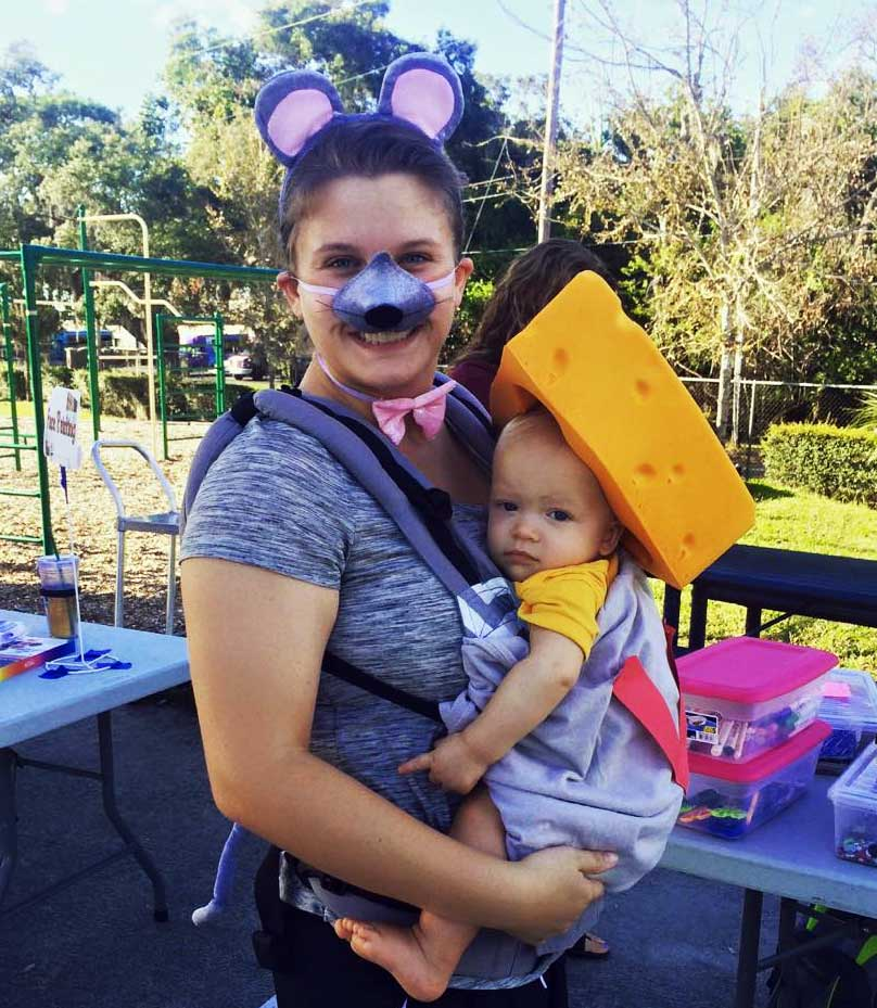 Mouse and Cheese Babywearing Costume
