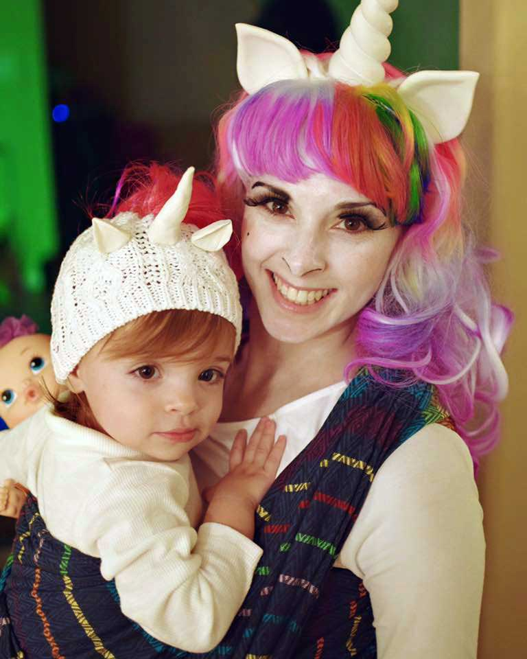 Unicorn Mother and Babywearing Costume