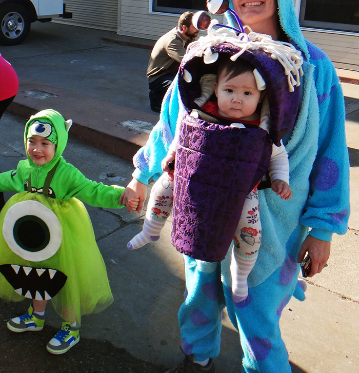 Monsters Inc Family Babywearing Costume