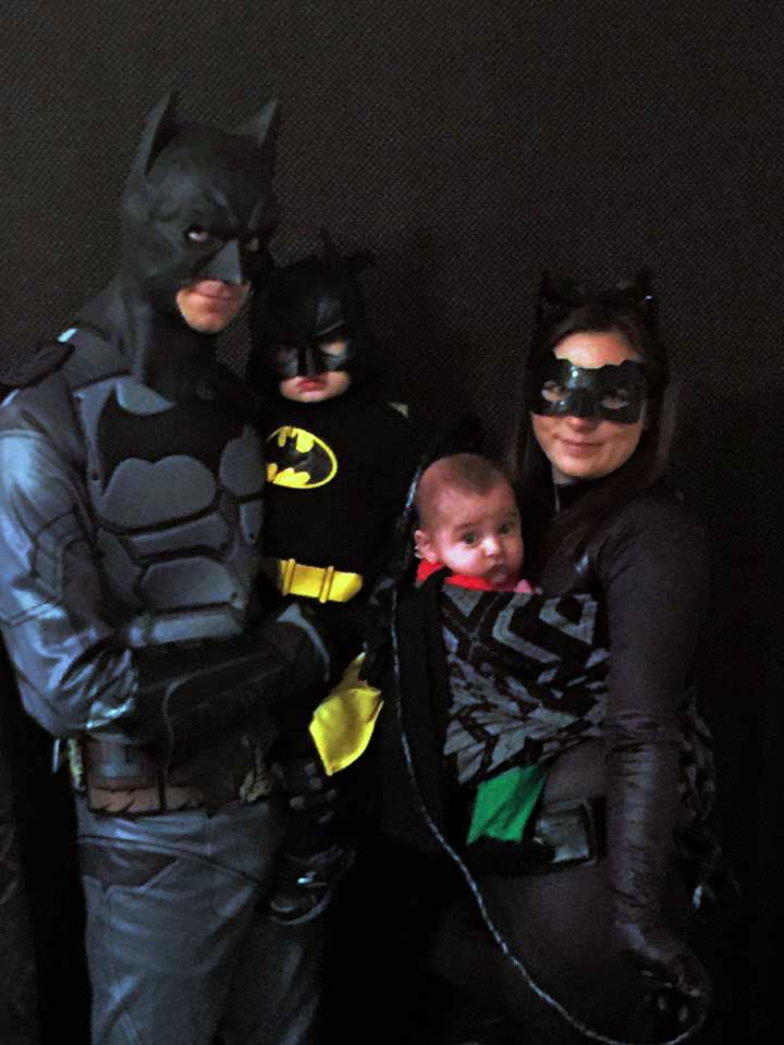 Babywearing Family Batman/Superhero Costume