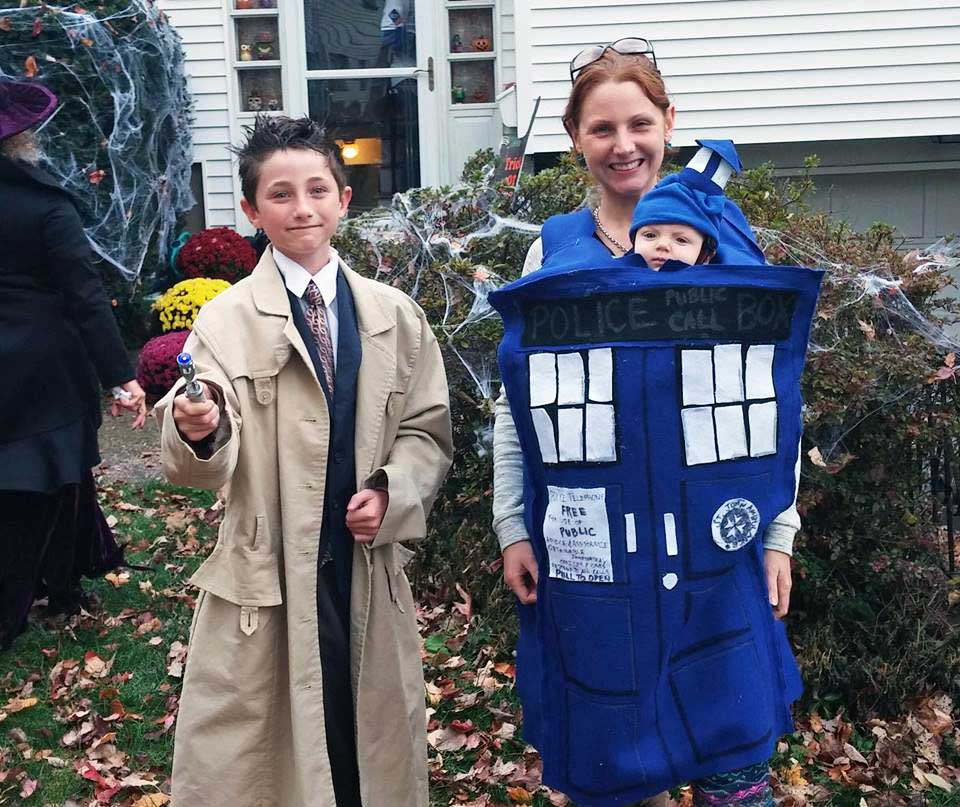 Dr Who and Tardis Babywearing Costume