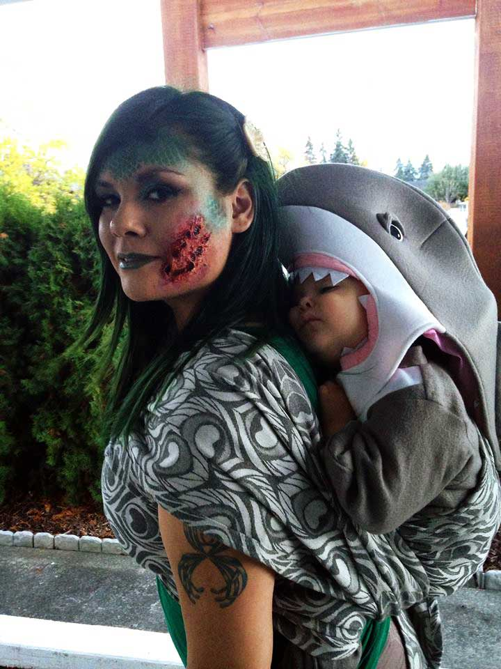Shark Attack Babywearing Costume