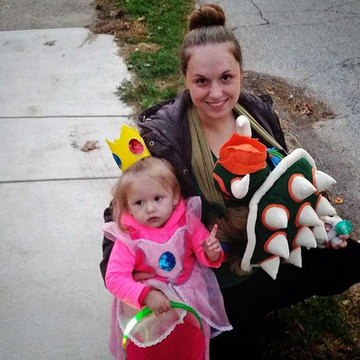 Super Mario Bros Nostalgic Babywearing Costume  sc 1 st  Wrap Your Baby & Enter My Babywearing Costume Contest 2017 - Wrap Your Baby