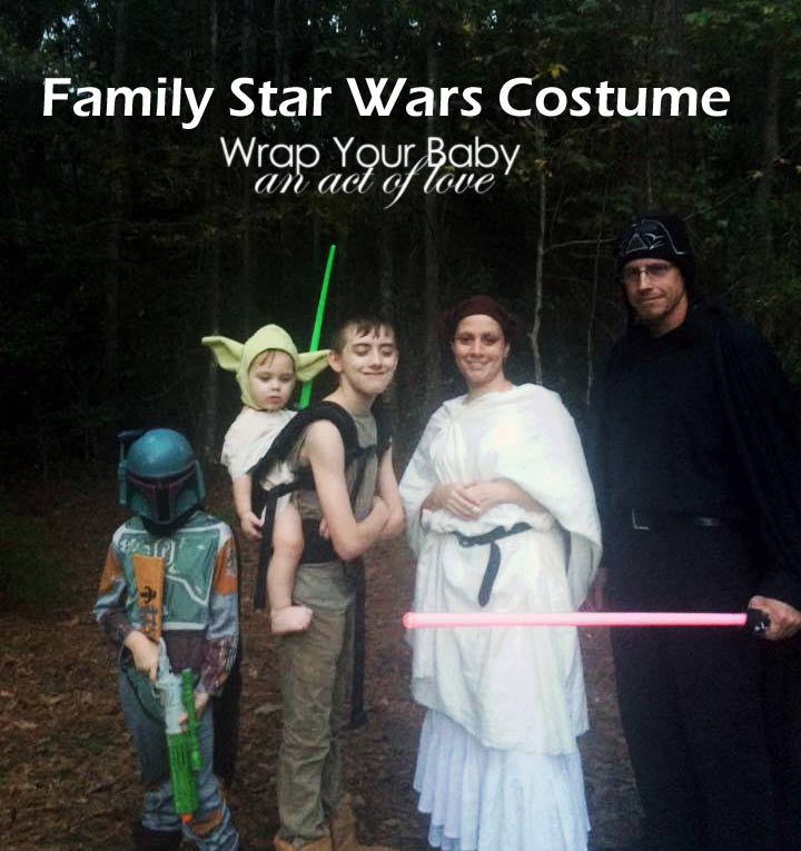 Star Wars Babywearing Costume for the whole family