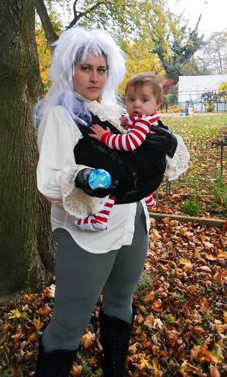 Goblin King Babywearing Costume from the Labrynth