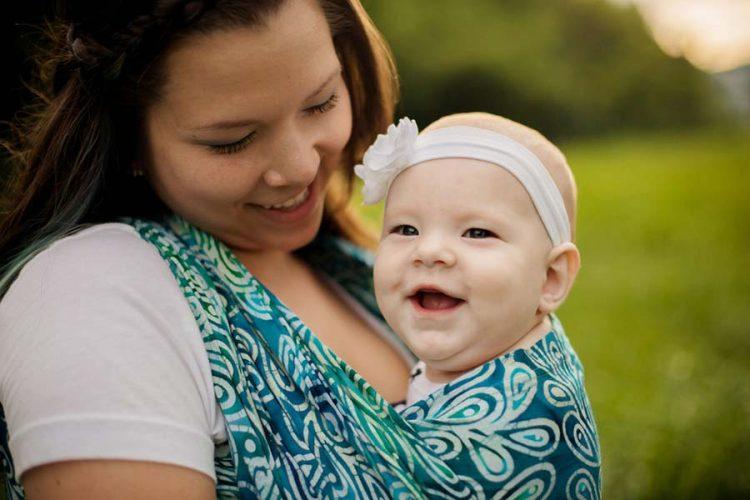 Happy Baby in Wrapsody Anna Wrap