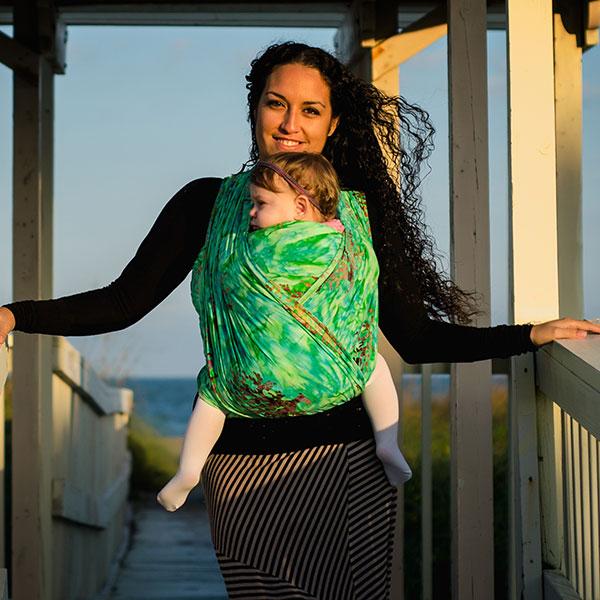 020112cbc05 Wrapsody Zoe Hybrid Wrap with Supportive Stretch - Wrap Your Baby