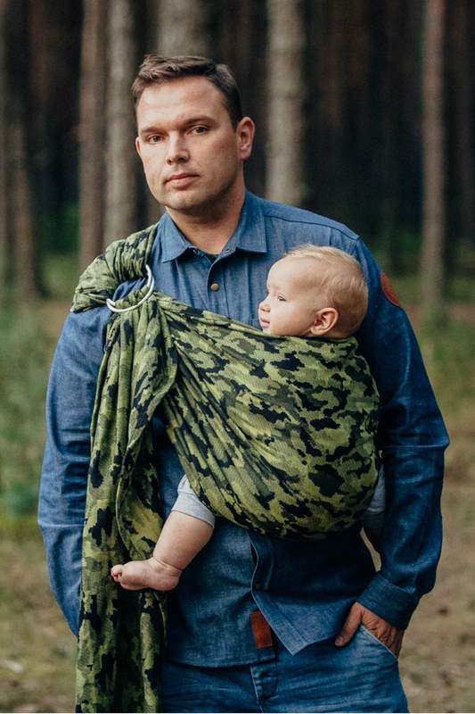 Lenny Lamb Camo Green Ring Sling Baby Carrier