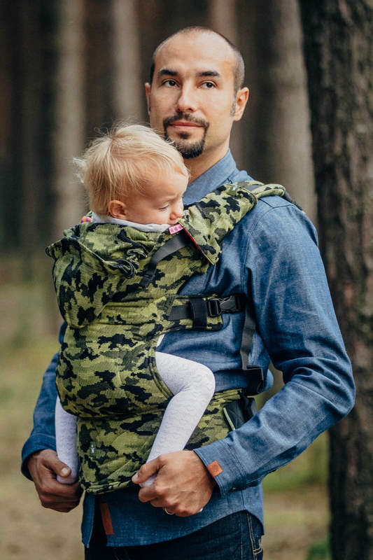 Lenny Lamb Camo Green Baby Carrier Wrap Your Baby