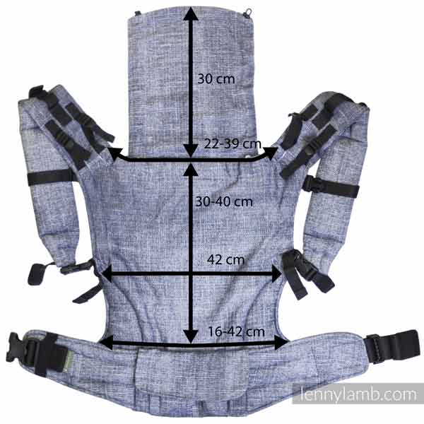 LennyUp Baby Carrier Measurements and Dimensions