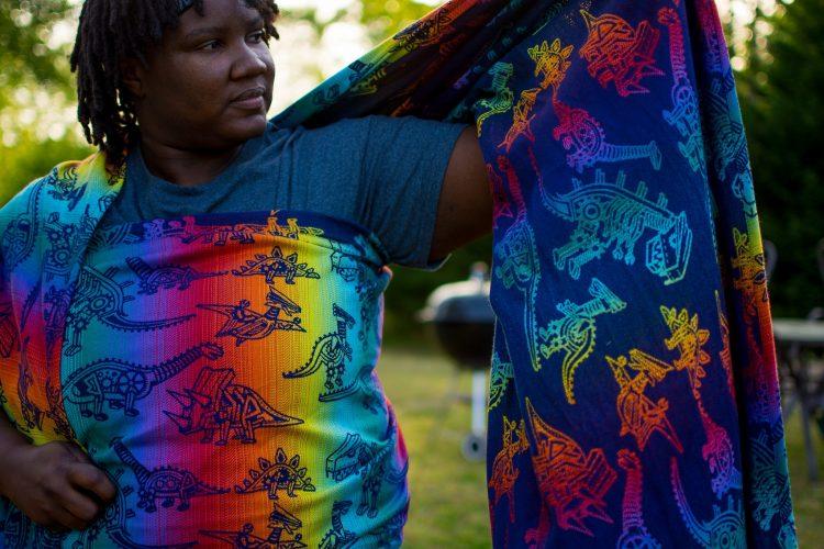 Smitten Rainbow Steampunk Dinos reverse on Britt Brown Marsh