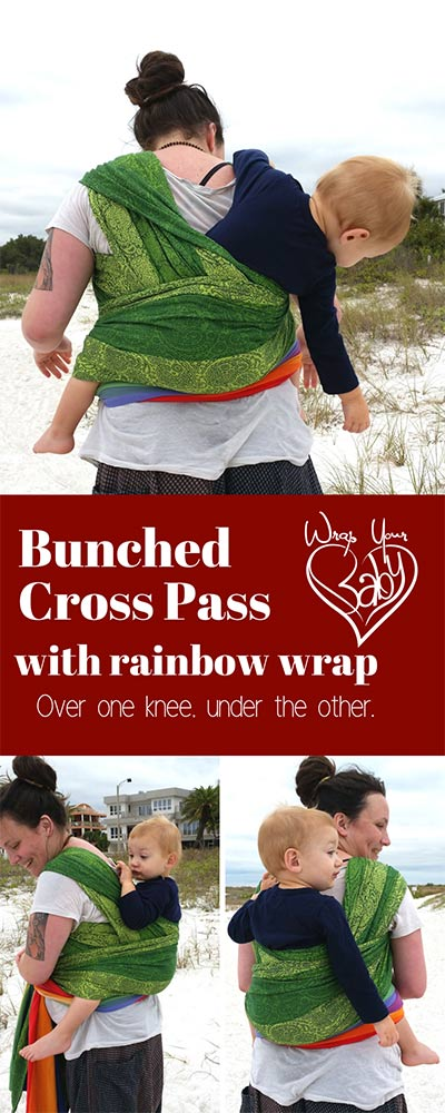 Bunched Cross Pass with a Woven Wrap