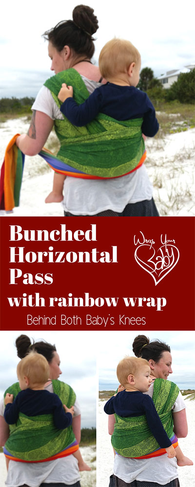 Bunched Horizontal Pass for Woven Wraps