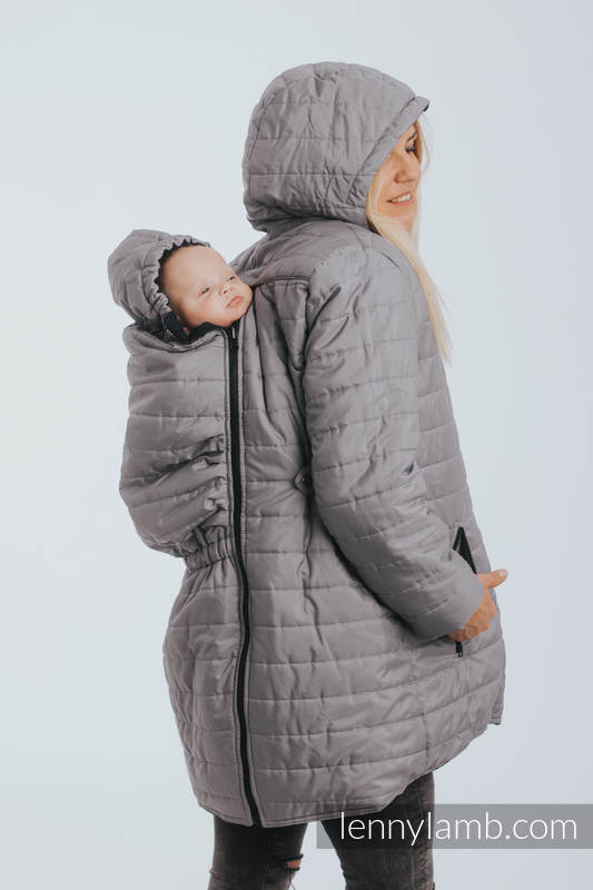 Back Carry in Babywearing Parka Coat