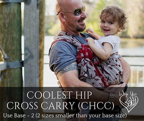 Coolest Hip Cross Carry (CHCC) with a Woven Wrap