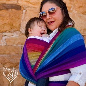 Girasol Rainbow Baby Woven Wrap