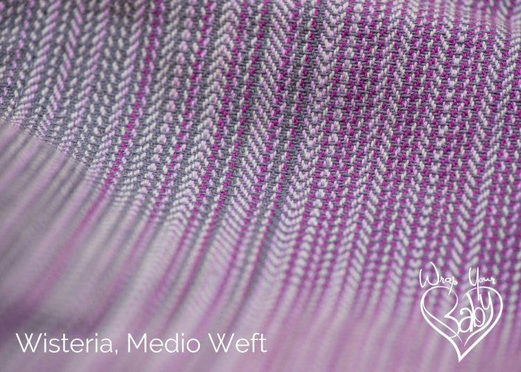 Girasol Wisteria Herringbone Weave Medio Weft
