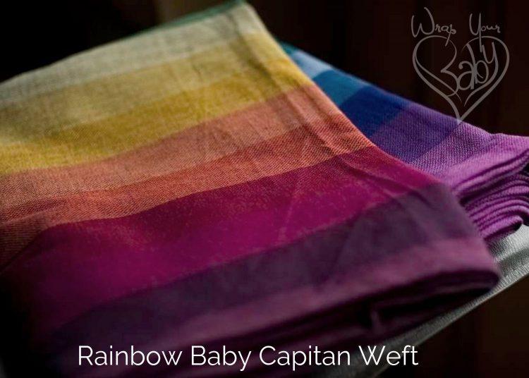 Girasol Rainbow Baby Wrap Azul Capitan Weft