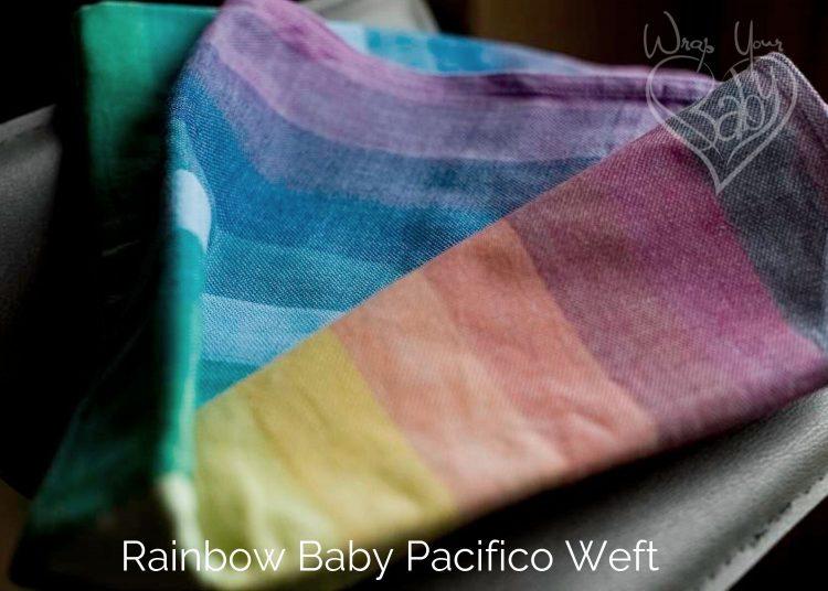 Rainbow Baby Girasol Woven Wrap Azul Pacifico Weft