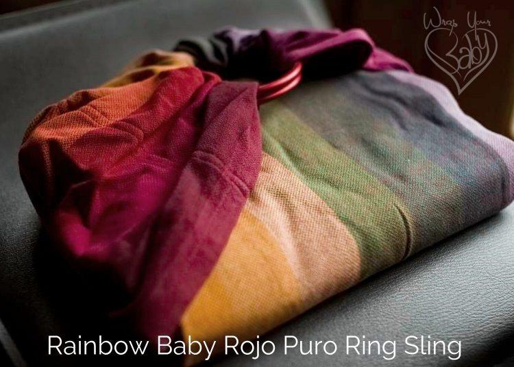 Girasol Rainbow Baby Ring Sling Rojo Puro Weft
