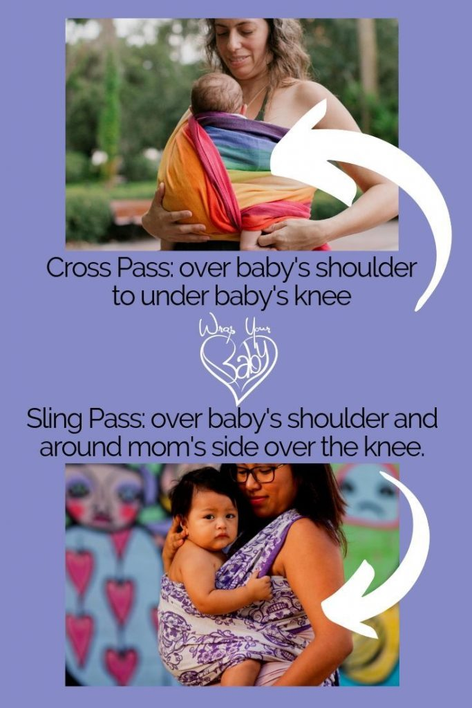 What's the difference between a cross pass and a sling pass with a woven wrap.