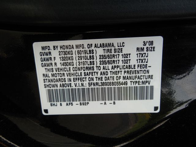 2008 Honda Odyssey Touring Leesburg, Virginia 30