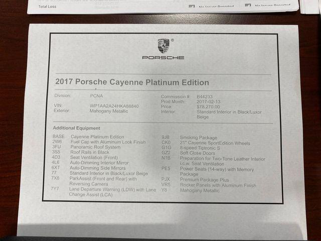 2017 Porsche Cayenne Platinum Edition Longwood, FL 68