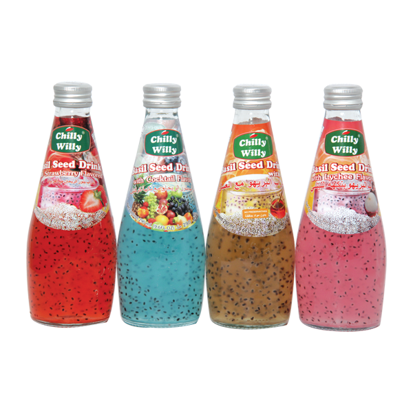 CHILLY WILLY BASIL SEED DRINK ASST 4x290ML
