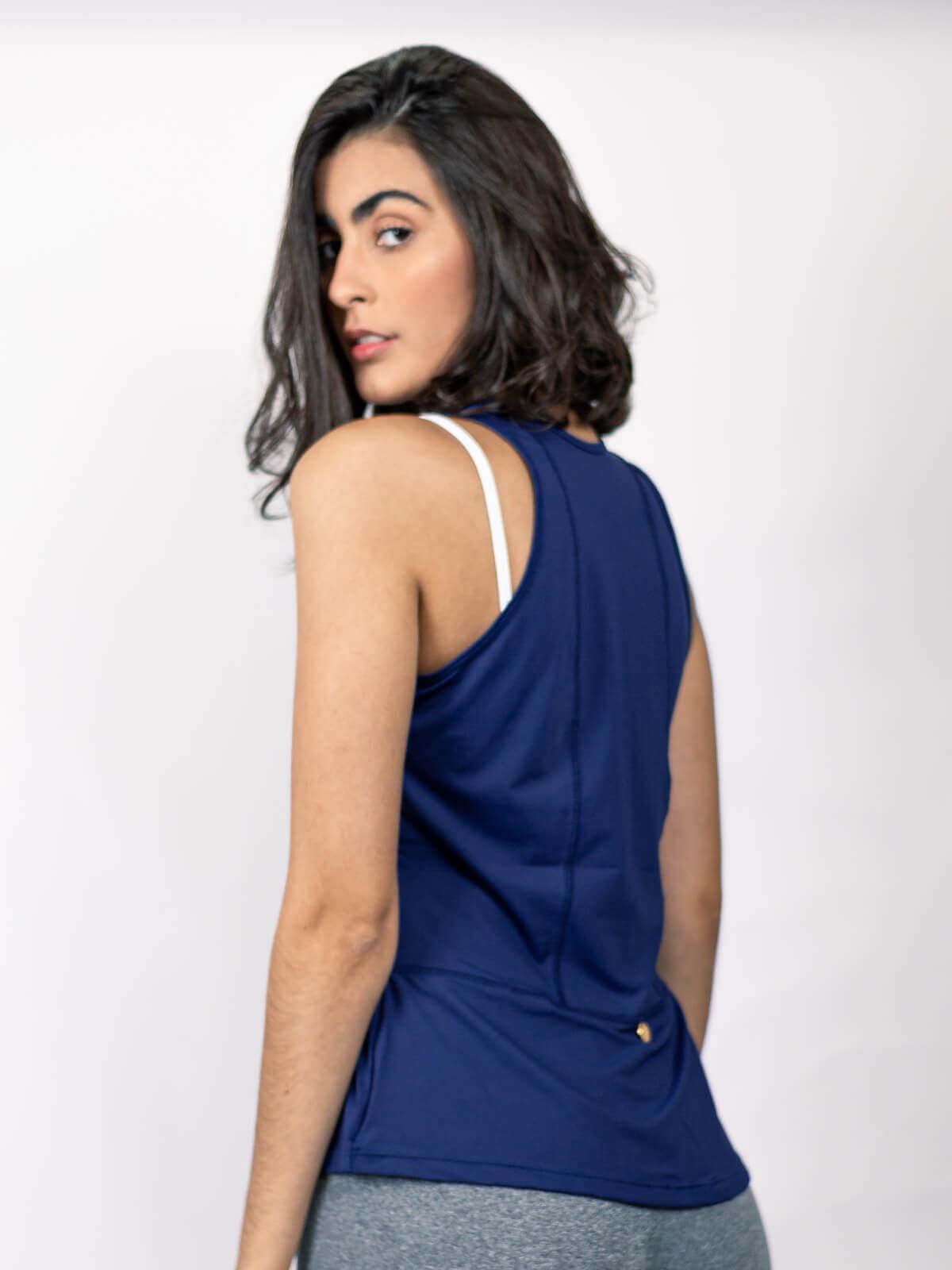 Blusa Alessandra Azul Marinho