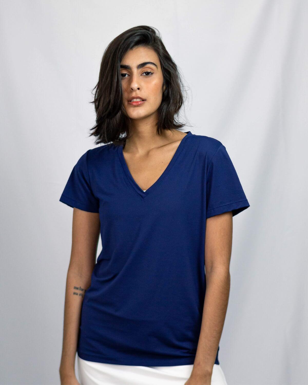 Blusa Carolina Azul Marinho