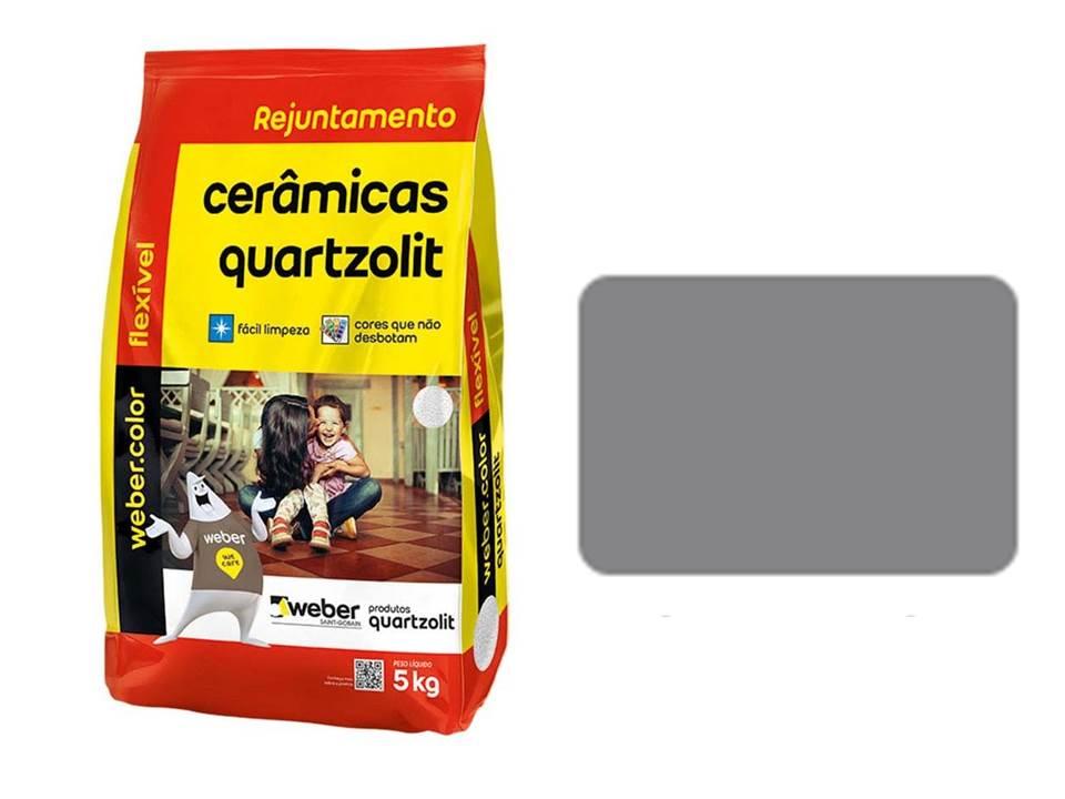 REJUNTE CERÂMICAS QUARTZOLIT CINZA ÁRTICO 5KG