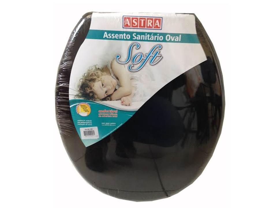 ASSENTO SANITÁRIO OVAL SOFT ASTRA PRETO
