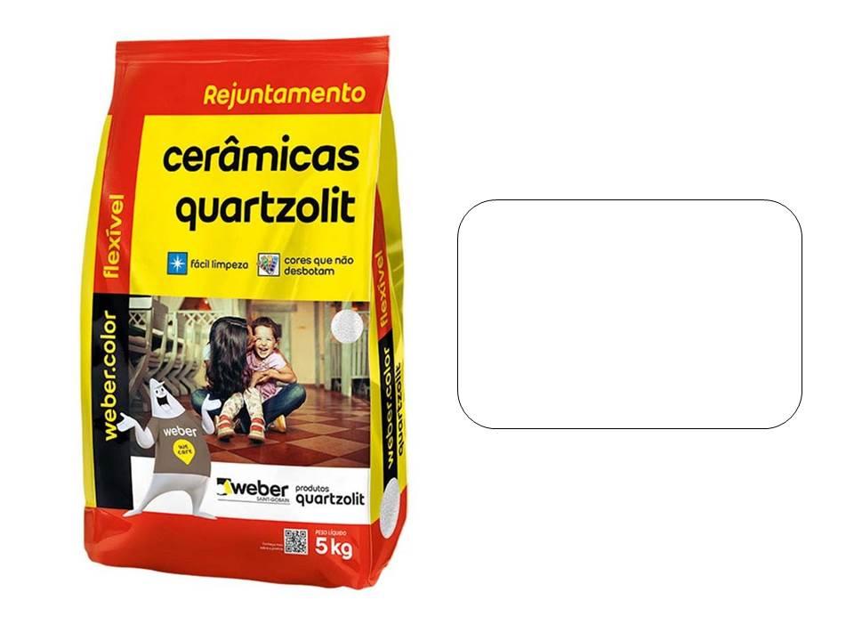 REJUNTE CERÂMICAS QUARTZOLIT BRANCO 5KG