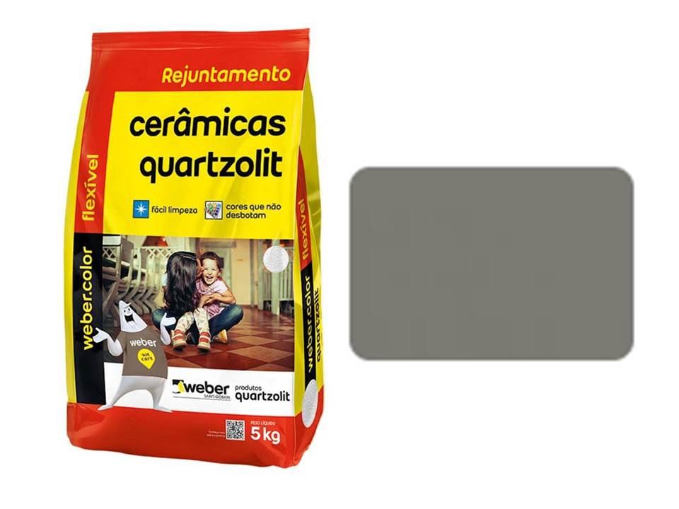 REJUNTE CERÂMICAS QUARTZOLIT CINZA OUTONO 5KG