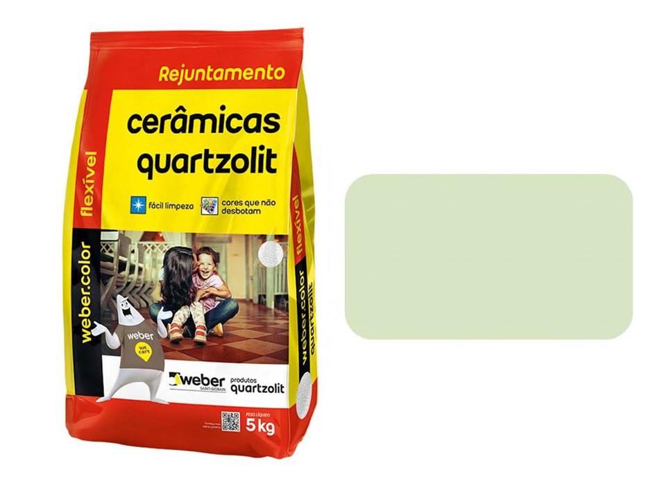 REJUNTE CERÂMICAS QUARTZOLIT VERDE ÁGUA 5KG