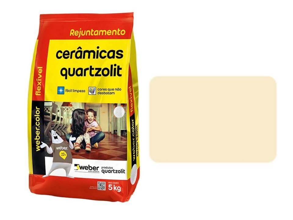 REJUNTE CERÂMICAS QUARTZOLIT PALHA 5KG