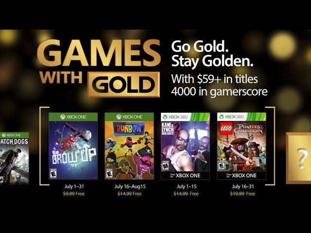 Image result for GAMES WITH GOLD JULHO 17