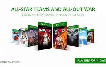 Xbox Game Pass Fevereiro