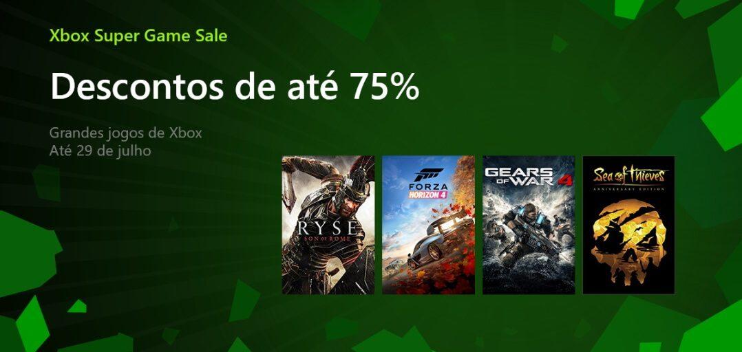 Super promoção de jogos do Xbox a partir de R$0,60