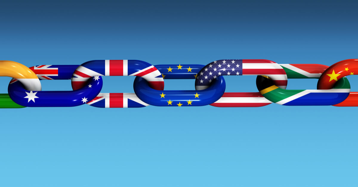 world flags chain