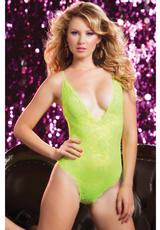 LIFE IN FAST LACE TEDDY-YELLOW-OS (DISC)