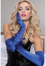 STIN OPERA LENGTH GLOVES-BLUE O/S (DISC)