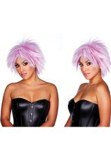 VICTORIA WIG - WHITE / PURPLE (DISC)
